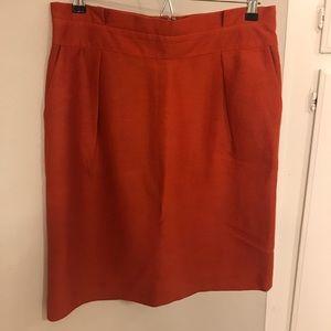 Rust colored Banana Republic Skirt